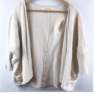 Athleta cream sweater cardigan XL